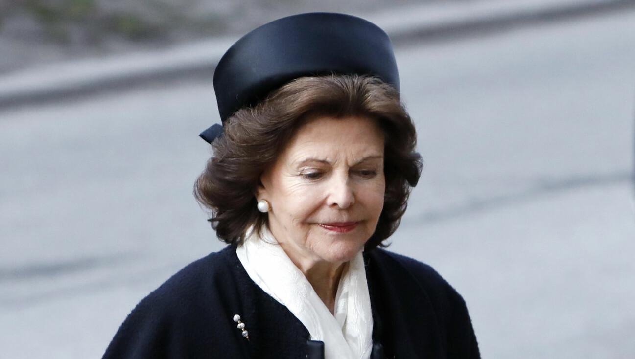 Drottning Silvia vid Dagmar von Arbins begravning 2020