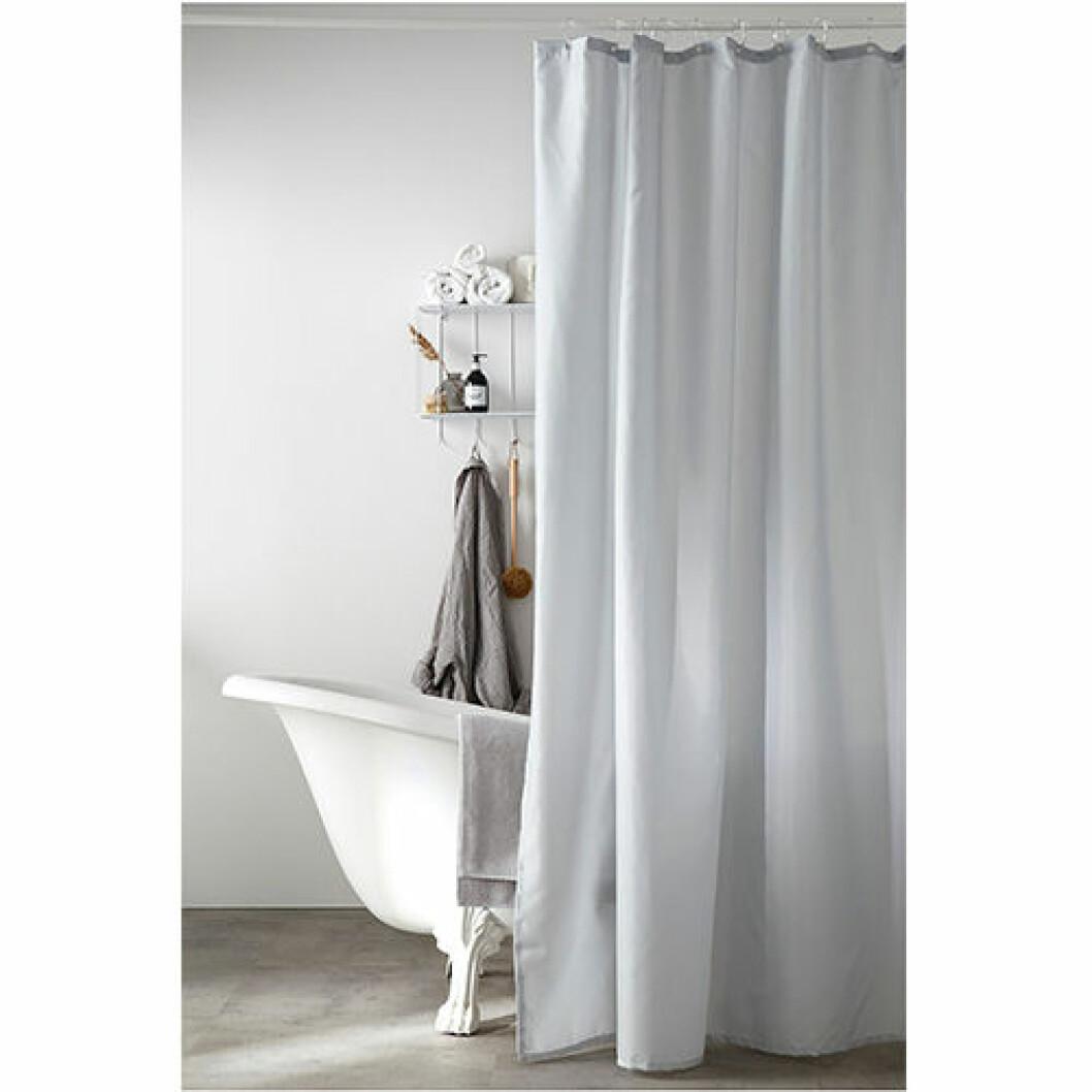 Duschdraperi i grå färg