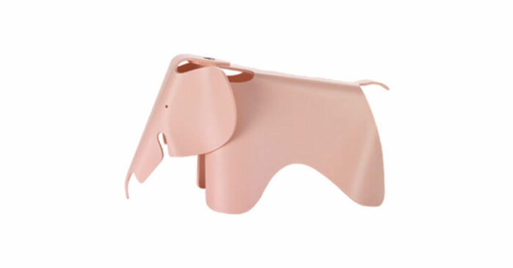 Eames elefant i rosa plast