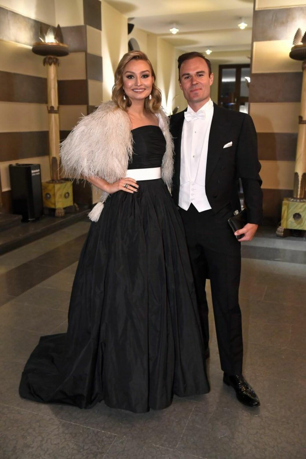 Ebba Bush Thor och Niklas Busch Thor på Nobel 2019