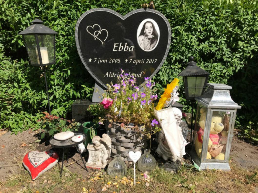 Ebba Stefansdotter Åkerlunds grav.