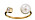 Guldfärgad ring som går att justera och den är öppen framtill. I ena ändan är det en stor pärla och i andra ändan en Cubic zirkone. Ring från Edblad.