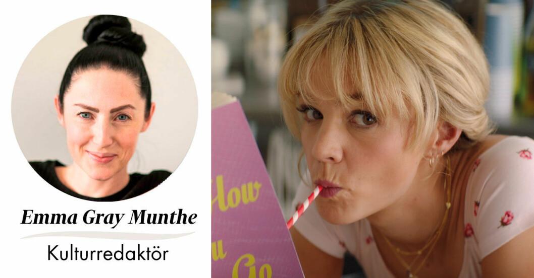 Feminas kulturredaktör Emma Gray Munthe och Carey Mulligan i filmen Promising young woman.