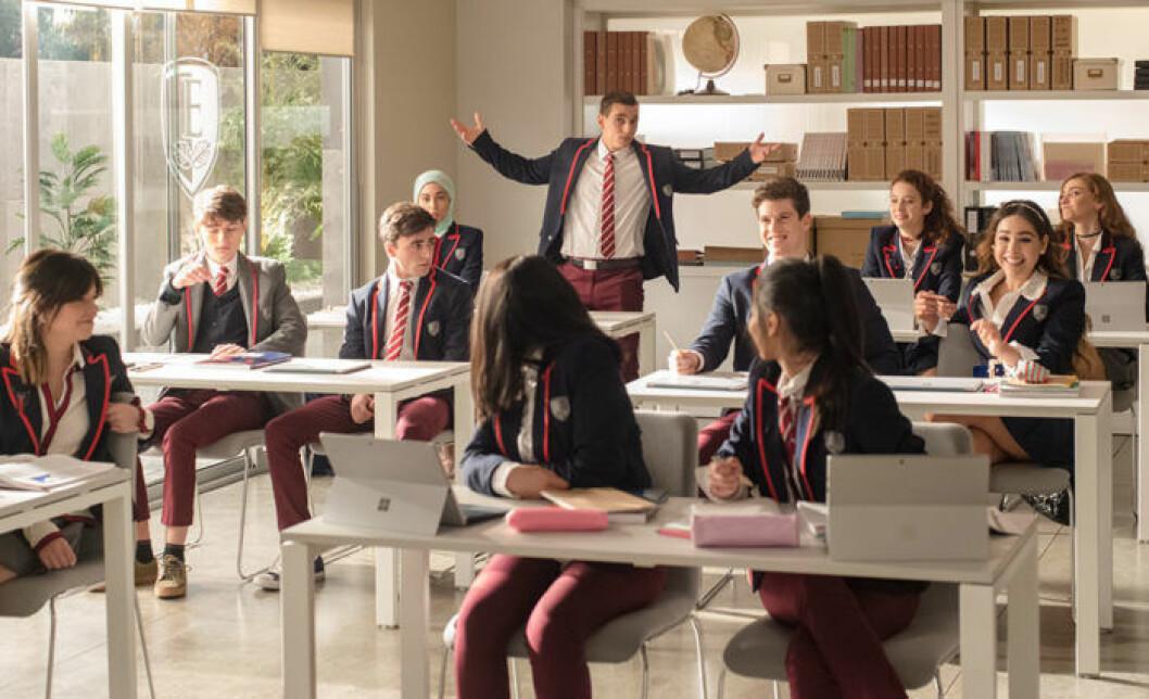 Elever på internatskolan Élite, en tv-serie som har premiär på Netflix den 5 oktober.