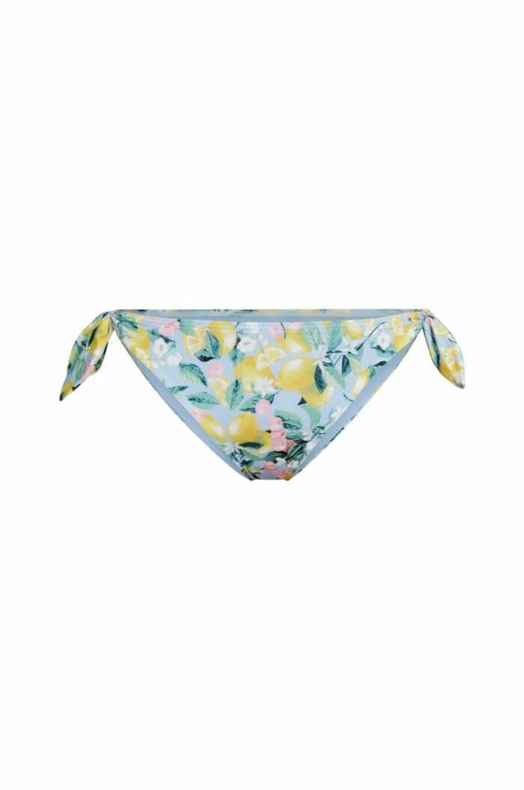 Bikinitrosor med citronmönster