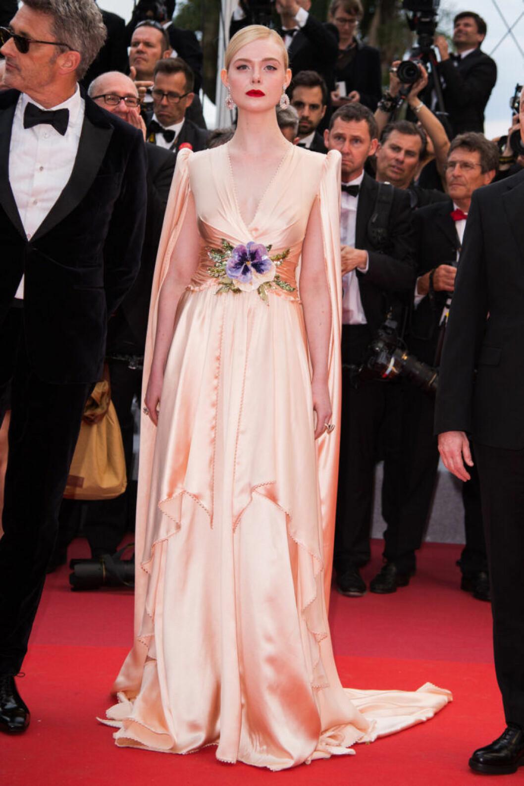 Elle Fanning på filmfestivalen i Cannes 2019