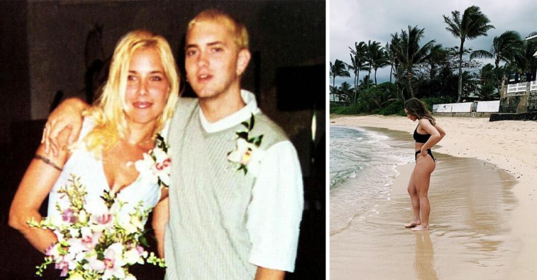 Eminem och ex-frun Kim Mathers.