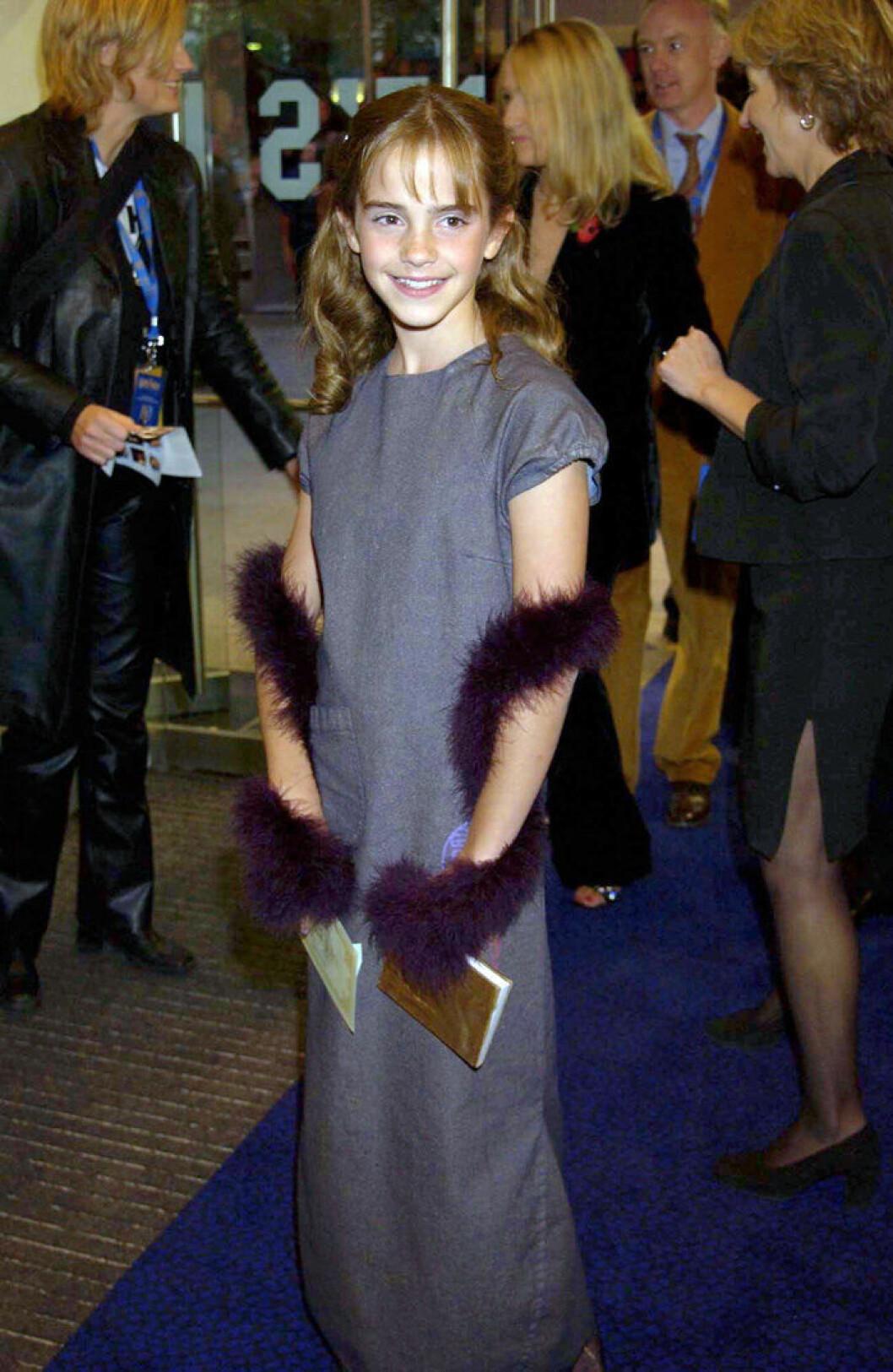 En bild på skådespelerskan Emma Watson 2001.