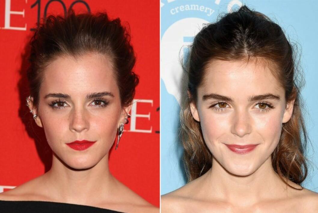 Emma Watson och Kiernan Shipka