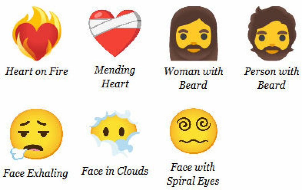 Nya Emojis 2021.