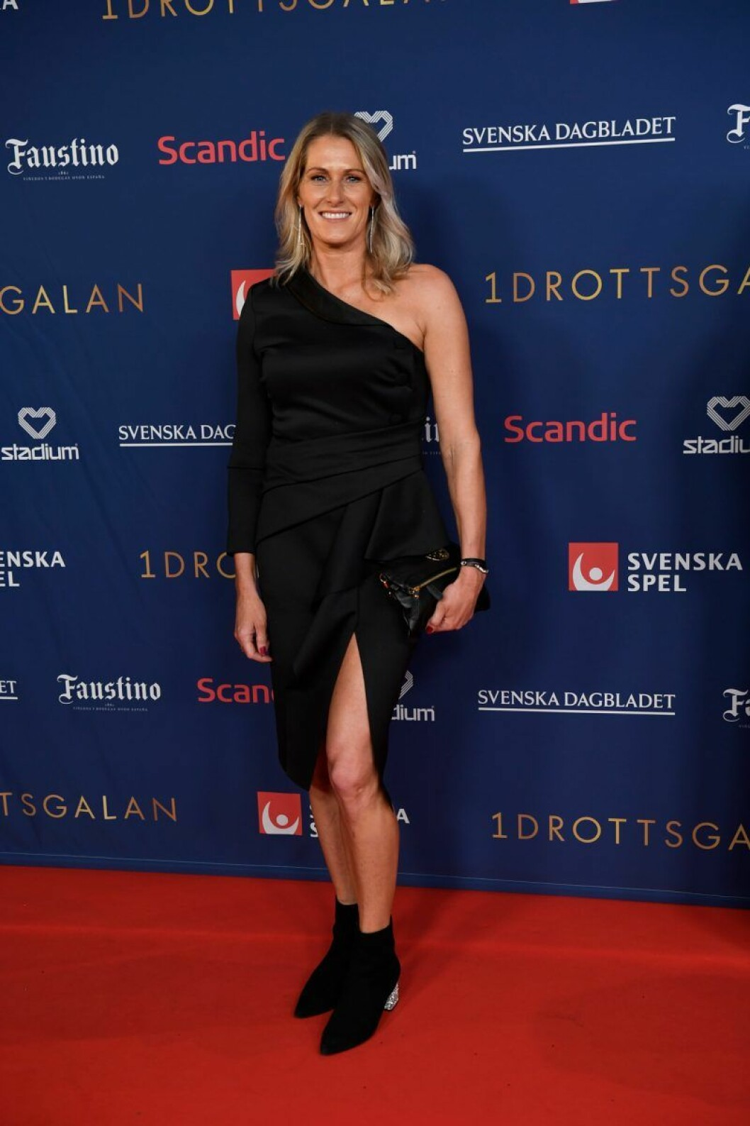 Erica Johansson på röda matta på Idrottsgalan 2020