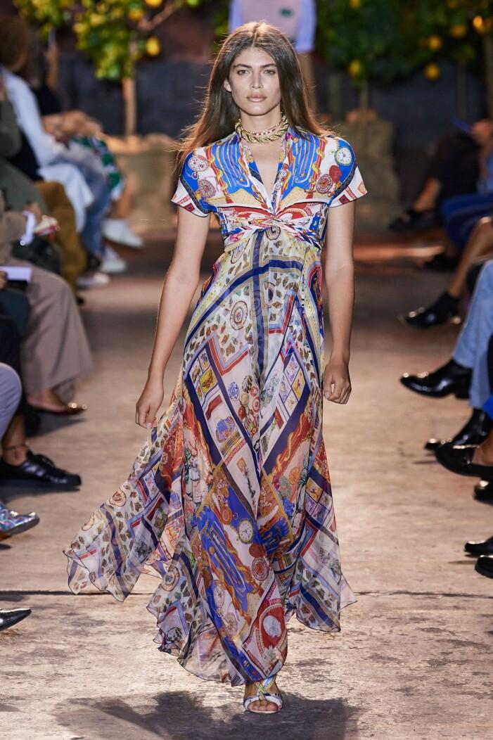 Etro ss 21 mönstrad klänning