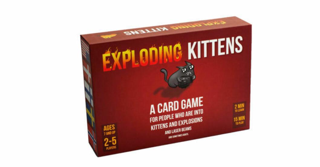 Exploding kittens är ett populärt kortspel