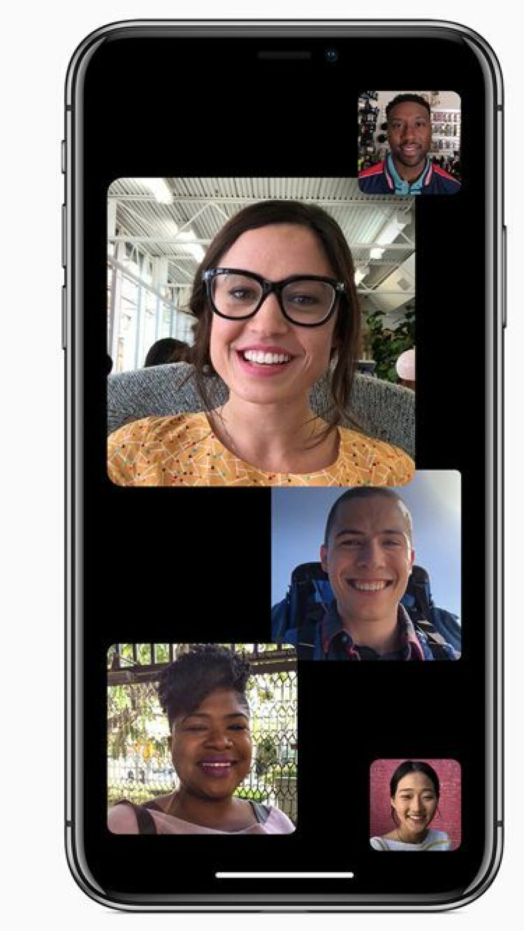 Gruppsamtal i Facetime är nu möjligt med nya iOS12 för iPhone.