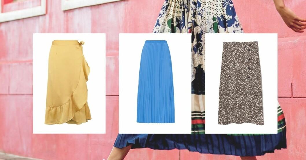 Färgglada kjolar