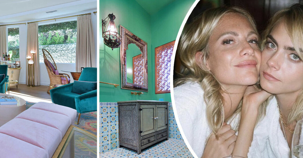 Cara och Poppy Delevingne säljer sitt pastell-palats i Los Angeles