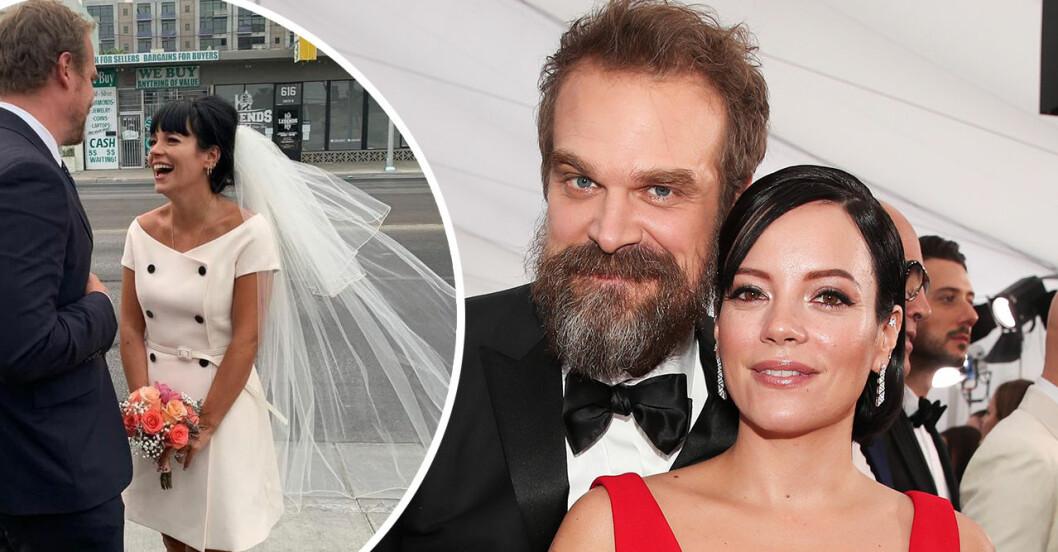 Lily Allen och David Harbours bröllop.