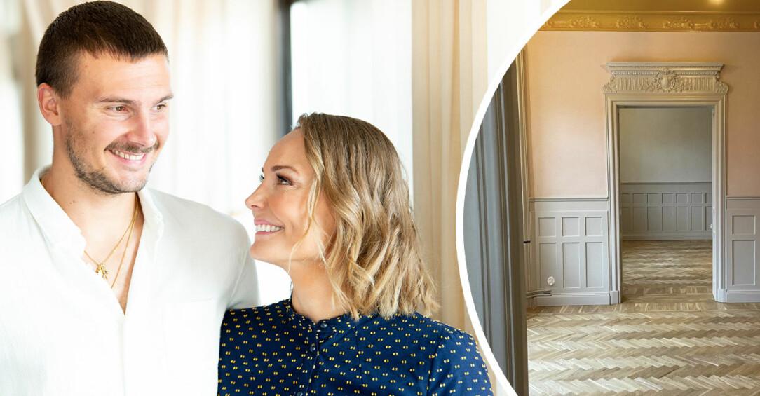 Carina Erik Berg visar nya lägenheten.