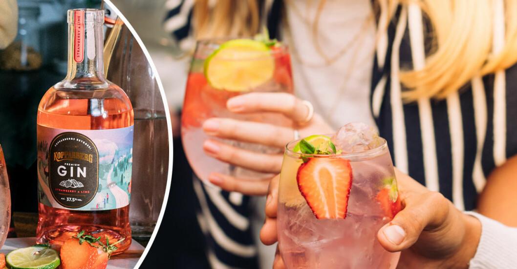 Kopparberg gin med jordgubb lime