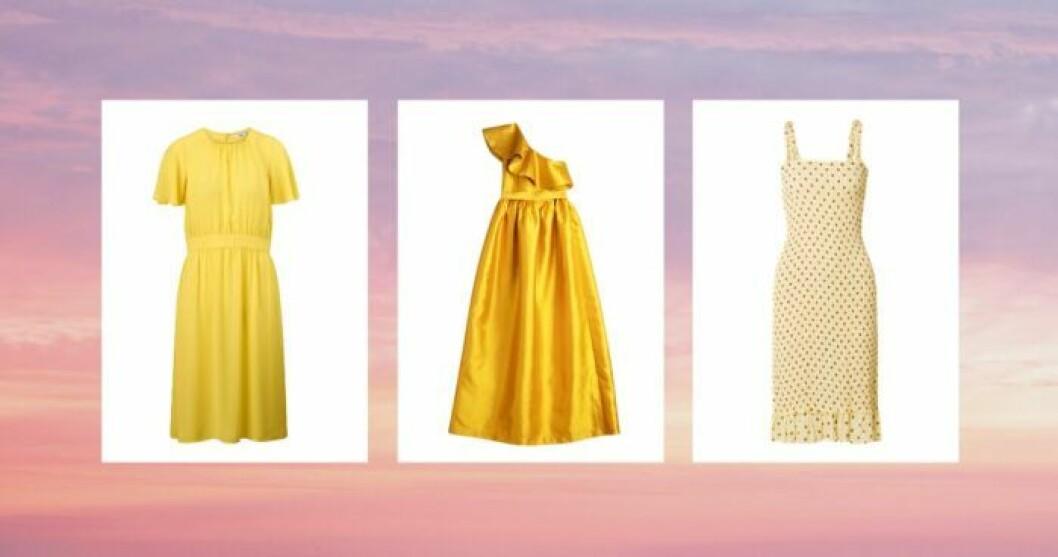 gula klänningar 2019
