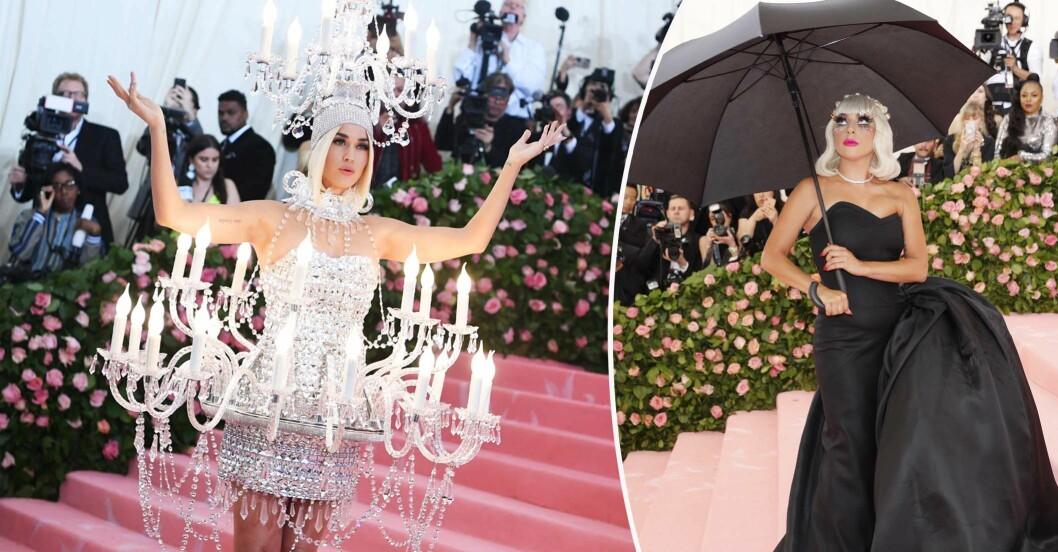 Katy Perry och Lady Gaga på MET-galan 2019
