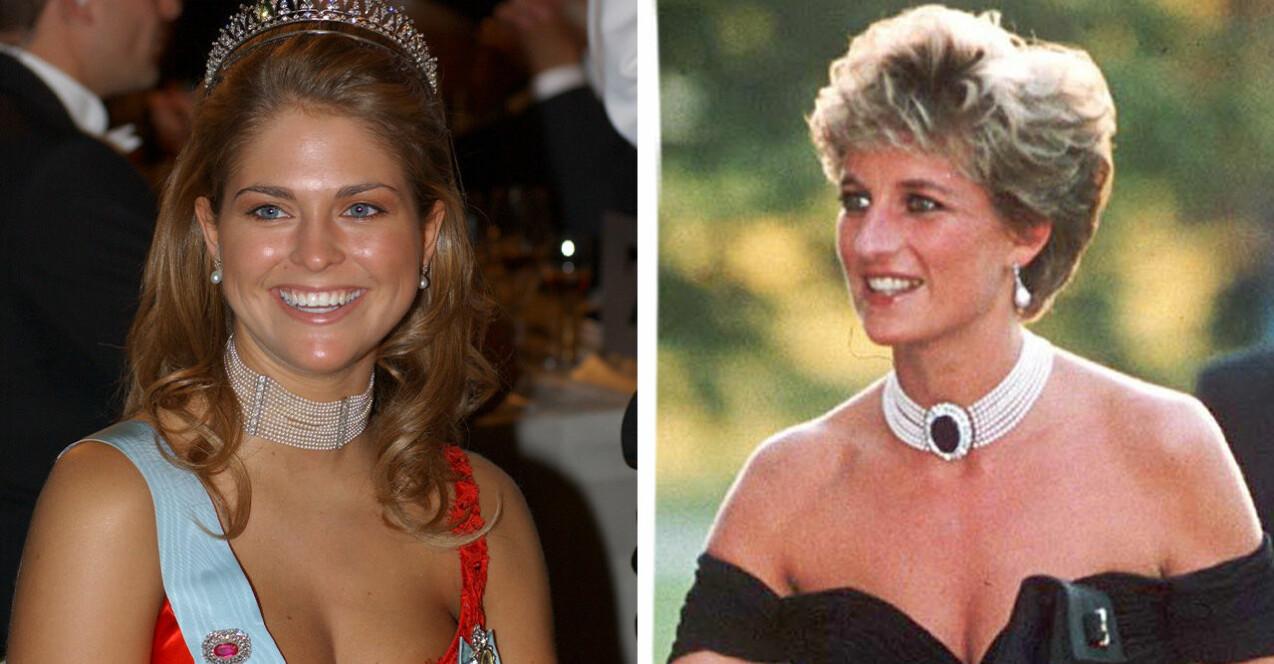 Prinsessan Madeleine och Dianas vågade modeval