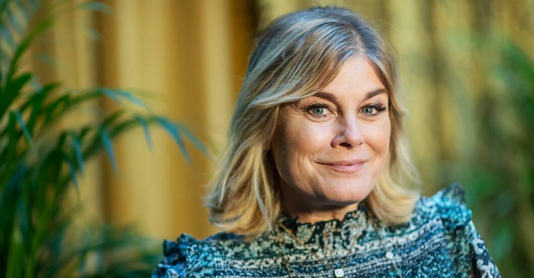 Pernilla Wahlgren avslöjar varför hon älskar singellivet.