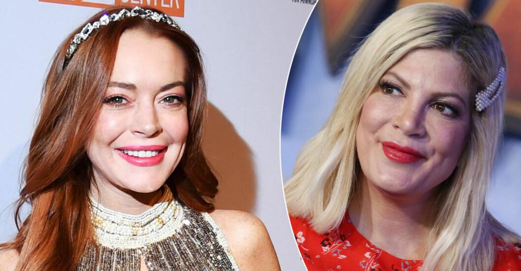 Lindsay Lohan och Tori Spelling