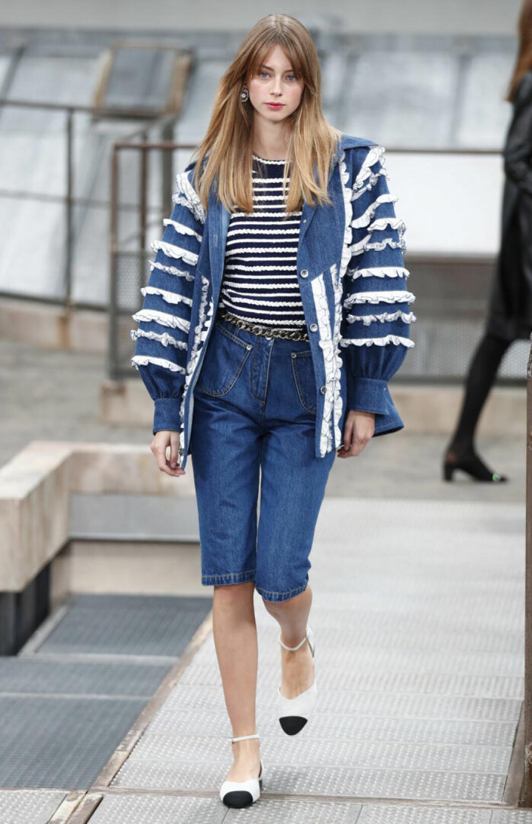 Trender våren 2020 på Chanel cityshorts i denim