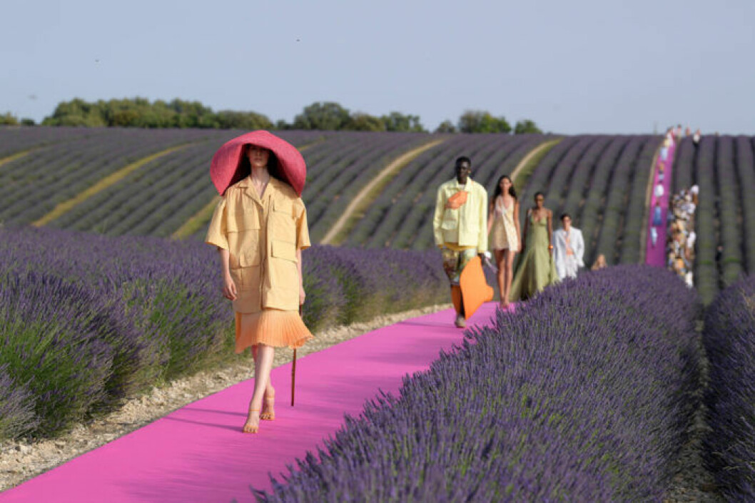 Trender våren 2020 blommig trädgårdstrend Jacquemus lavendelfält i provence