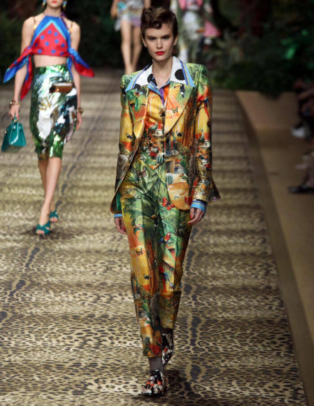 Trender våren 2020 Dolce&Gabbana tropiskt mönster
