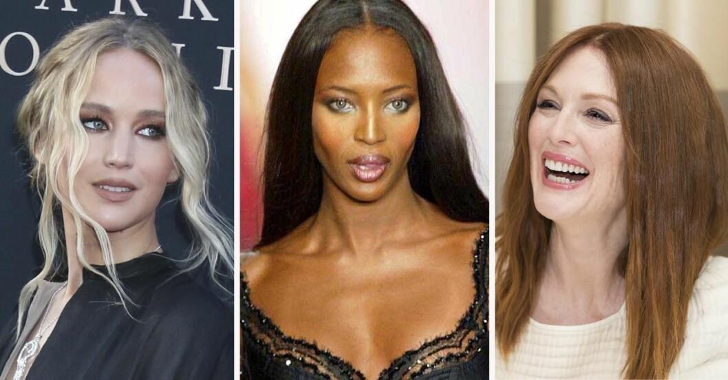Jennifer Lawrence, Naomi Campbell och Julianne Moore
