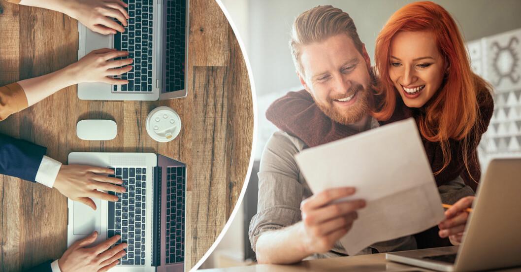 Par som jobbar hemma