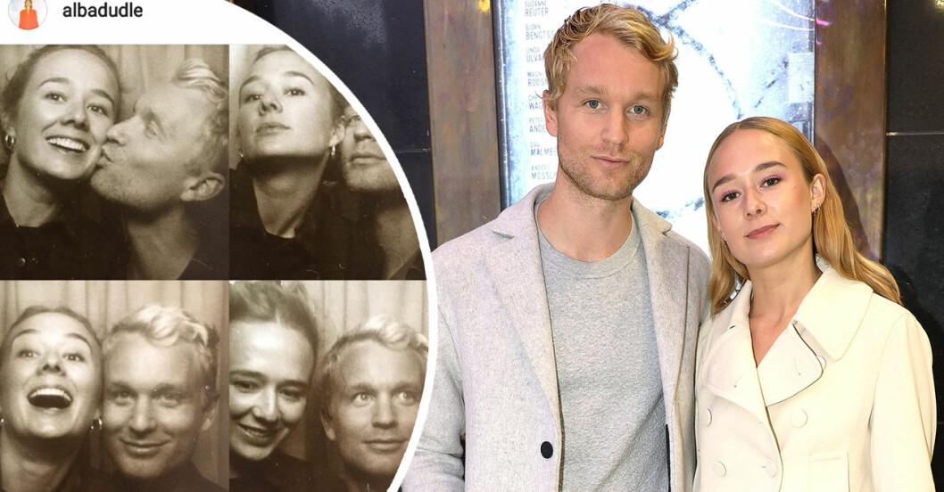 Björn Gustafsson och Alba August jobbar ihop i nya tv-serien.