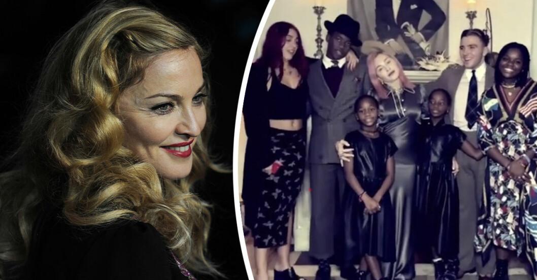 Madonna visar nya filmen med alla söta barnen!