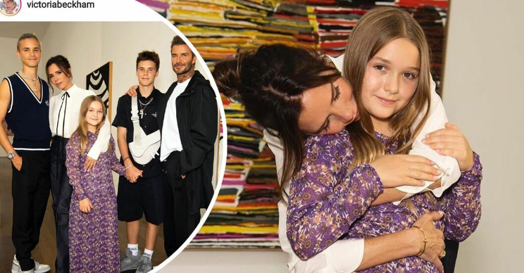Victoria Beckham syr minikopisa från catwalken till dottern Harper.