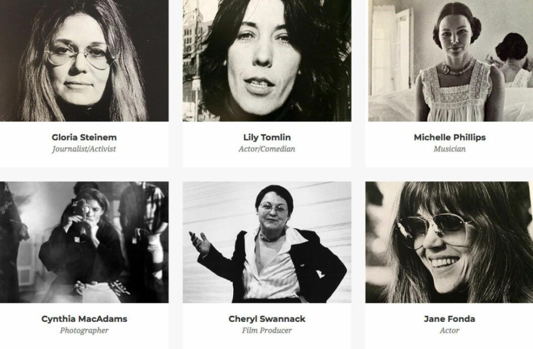 """Här är några av kvinnorna som förekommer i boken och dokumentärfilmen """"Feminister: Hur tänkte de?"""" som har premiär på Netflix den 12 oktober"""