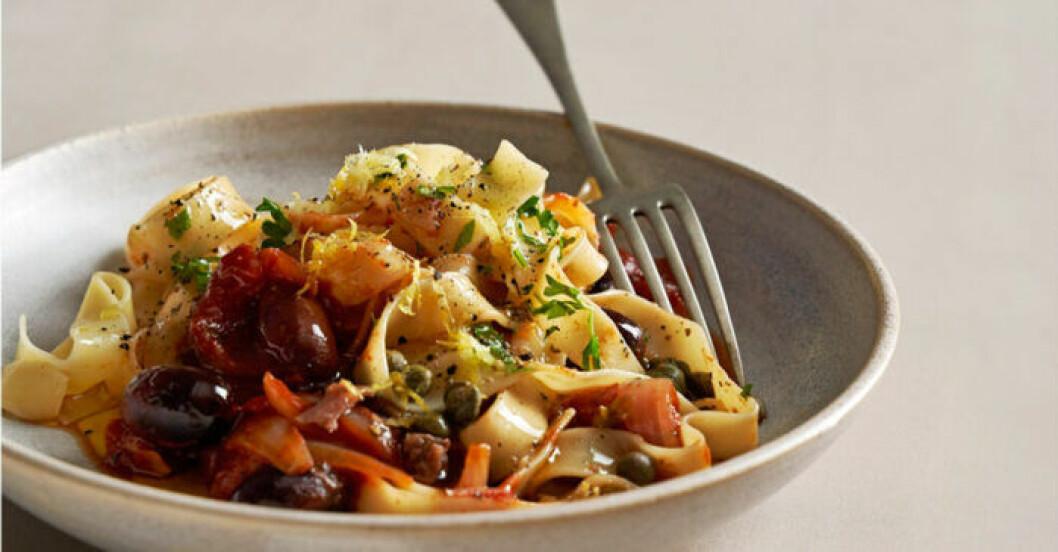 Recept på god pasta till regniga dagar