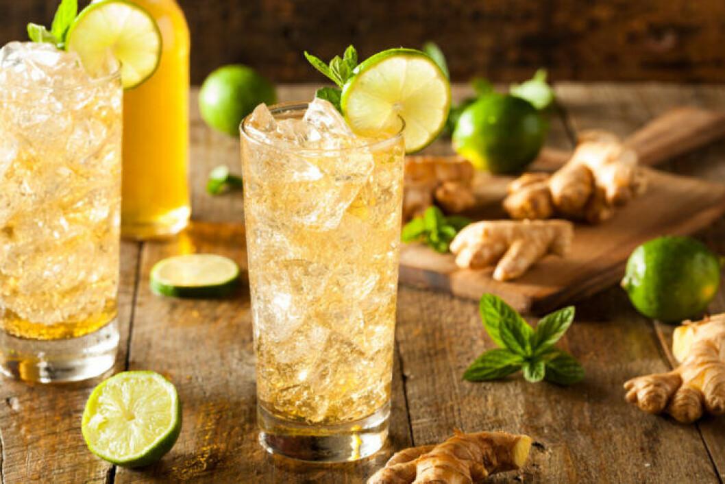 Drinken Fidel Castro med rom och Ginger ale