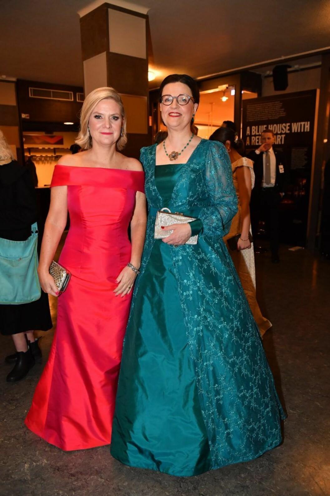 Finansminister Magdalena Andersson (S) och utbildningsminister Anna Ekström på Nobel 2019