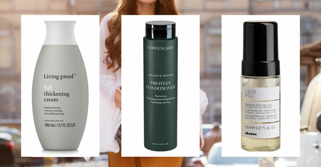 Här är produkterna för dig med tunt och fint hår