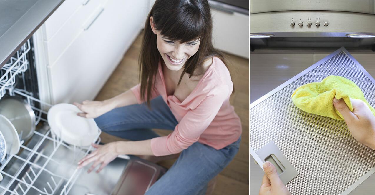 Så rengör du fläkten och diskmaskinen