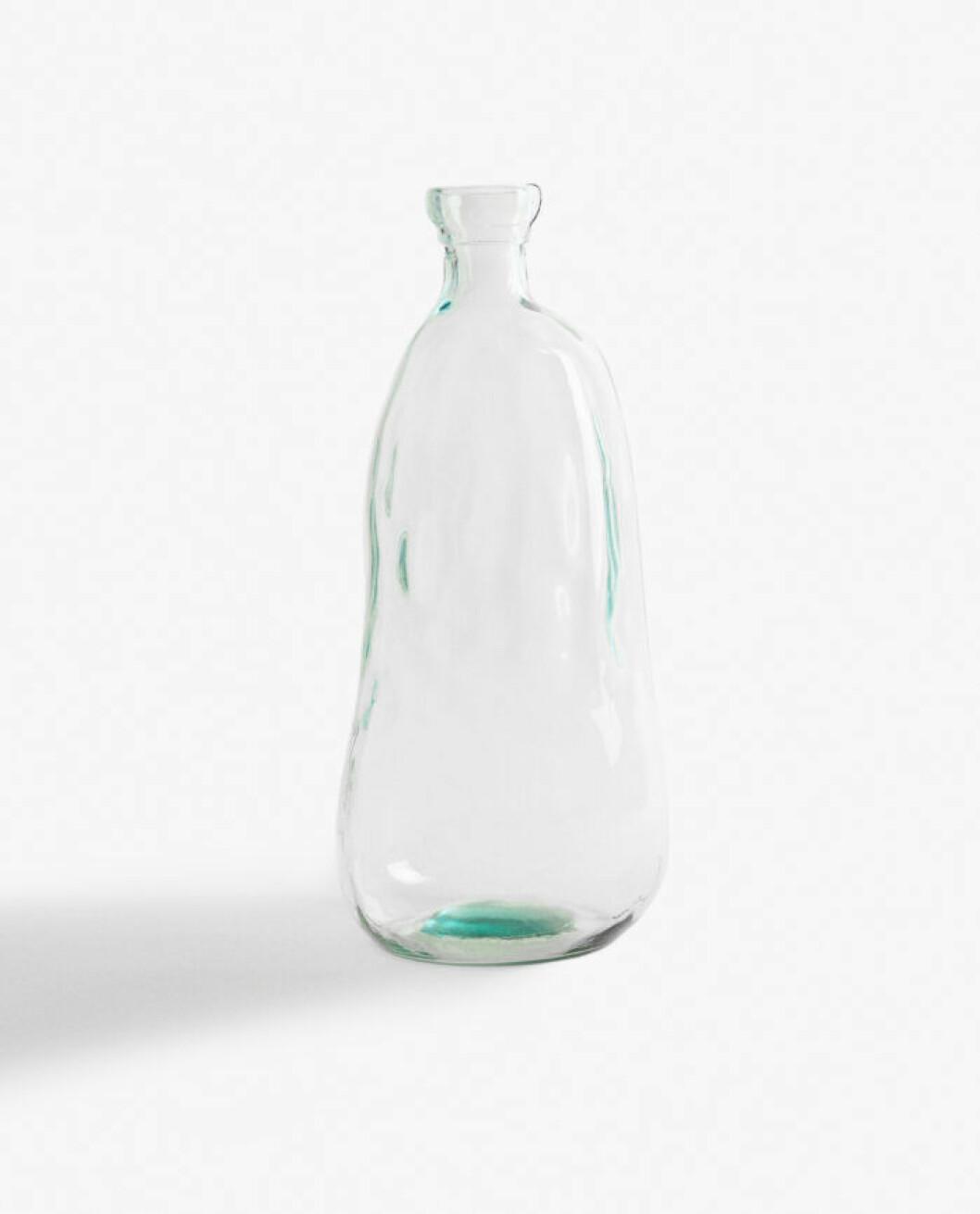 flaska som vas – av återvunnet glas