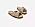 Platta sandaler i beige veganskinn, bred, tvinnad rem över tån.