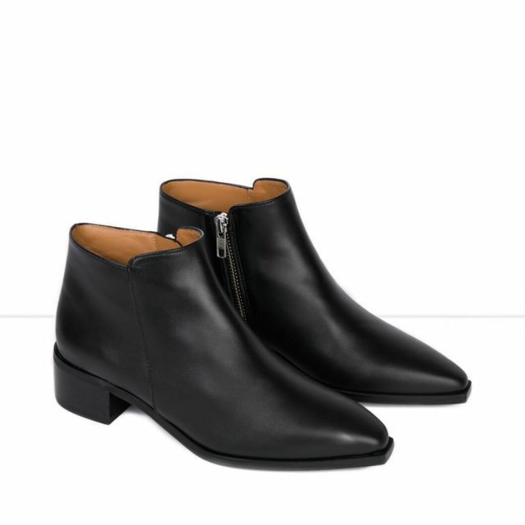Flattered boots I svart skinn
