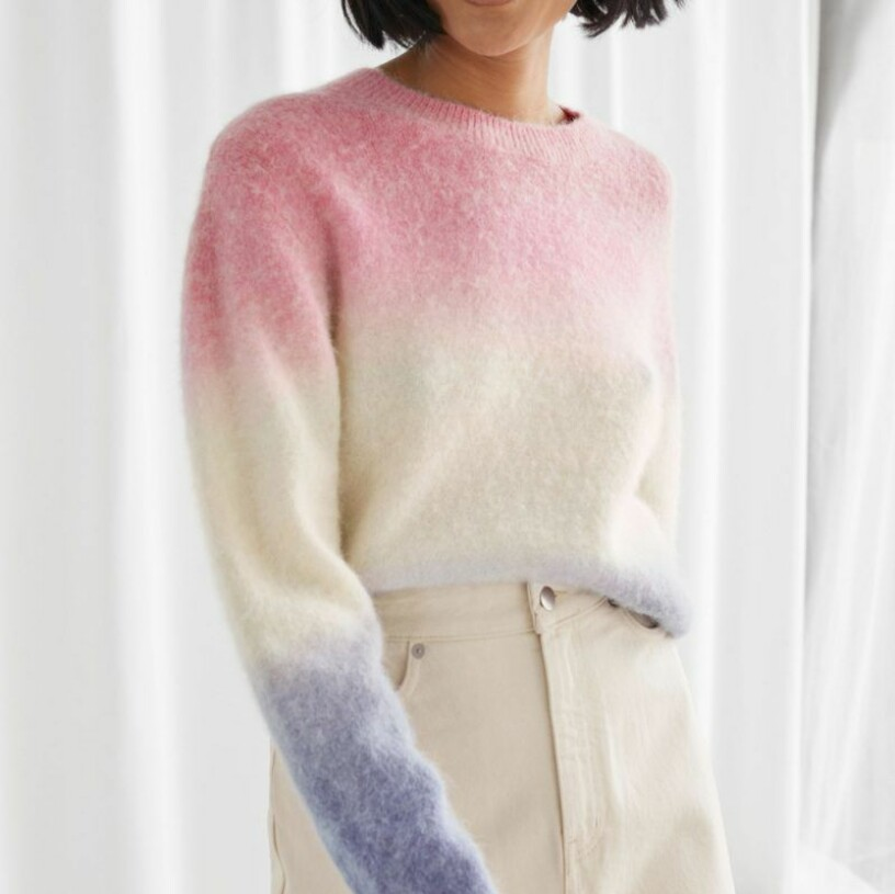 Flerfärgad stickad tröja från & Other Stories