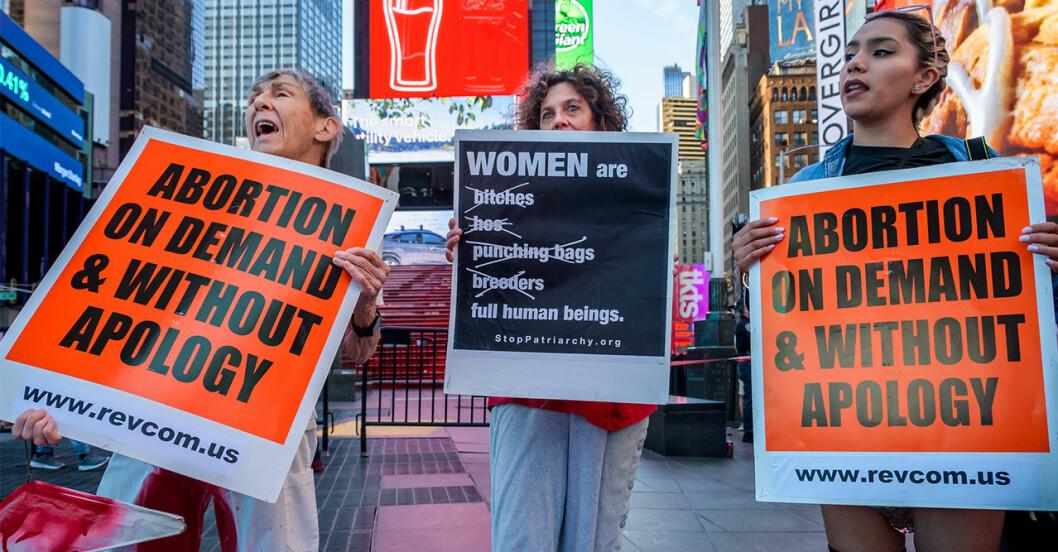 Demonstration för abort