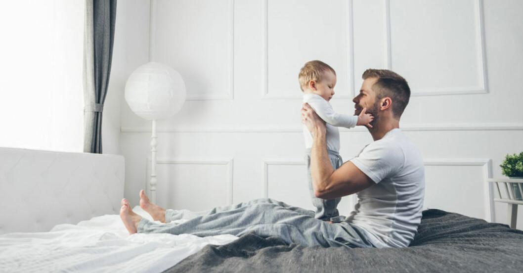 pappa med barn