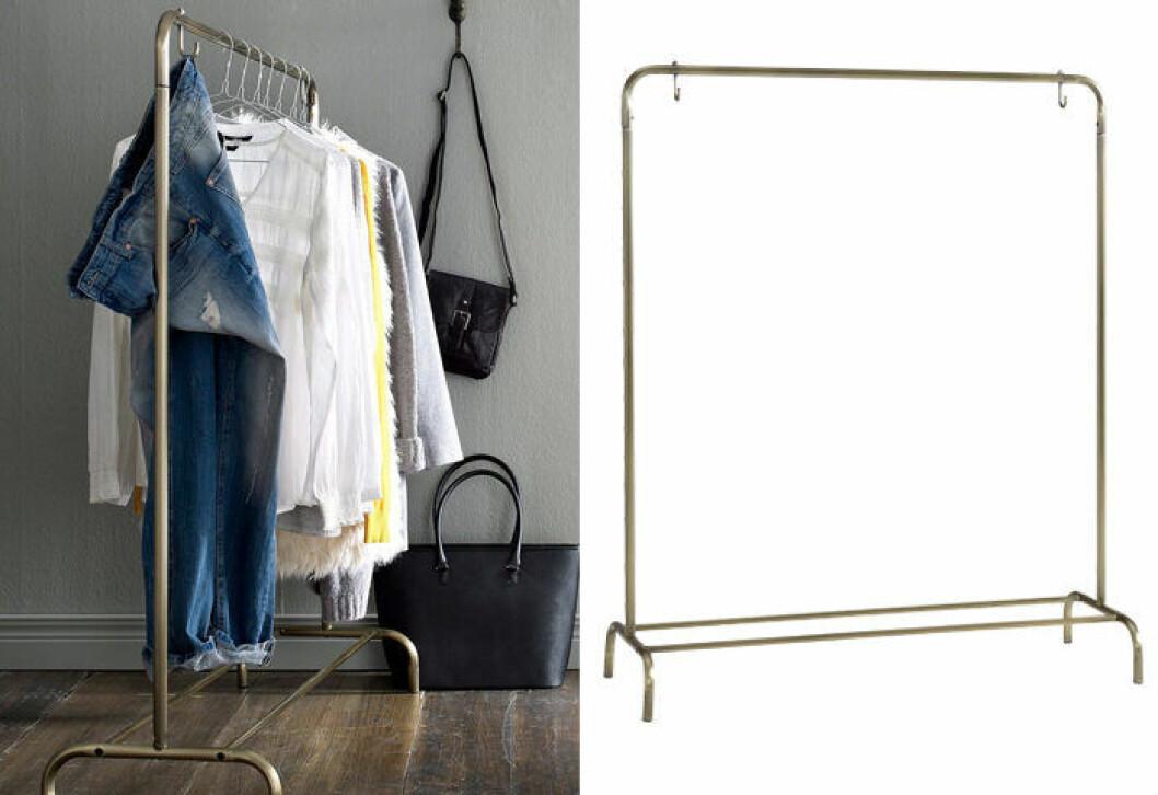 Industriell klädställning - perfekt i ett kvadratsmart hem