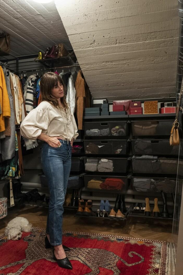 Cecilia Blankens garderob förvaring Elfa